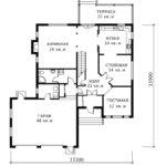 План 1 этажа Диллингем