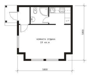 План 1 этажа Ирга