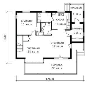 План 1 этажа Истра
