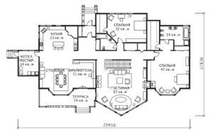 План 1 этажа Калифорния