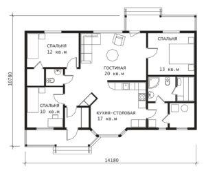 План 1 этажа Кейла