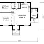 План 1 этажа Клевер