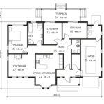 План 1 этажа Квебек-2