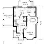 План 1 этажа Ландыш