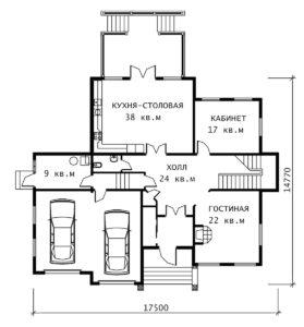 План 1 этажа Лион