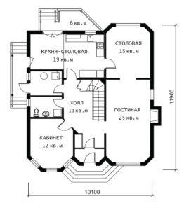 План 1 этажа Люцерн