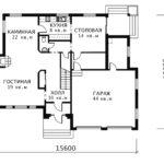 План 1 этажа Магнолия