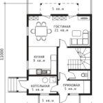 План 1 этажа Ока-2