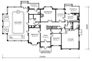 План 1 этажа Ольга-2