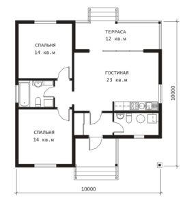 План 1 этажа Оренбург-2