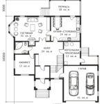 План 1 этажа Волга