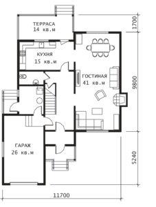 План 1 этажа Воронеж