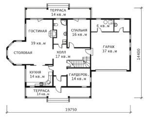 План 1 этажа Жанна