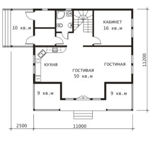 План 1 этажа Зеленые Дали
