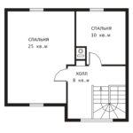 План 2 этажа Дом с сауной