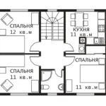 План 2 этажа Гринфилд