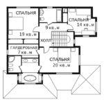 План 2 этажа Каскад 0-1