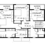 План 2 этажа Каскад 1-2