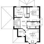 План 2 этажа Ландыш