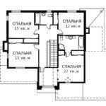 План 2 этажа Магнолия