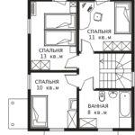 План 2 этажа Ока-2