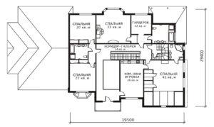 План 2 этажа Ольга-2