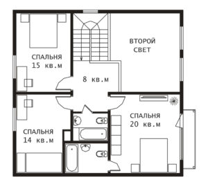 План 2 этажа Вильбон