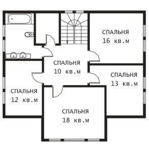 План 2 этажа Зеленые Дали