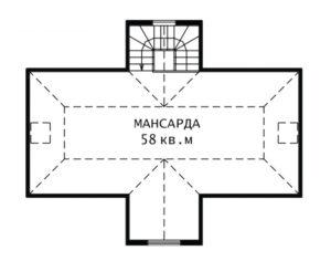 План мансарды Наташа