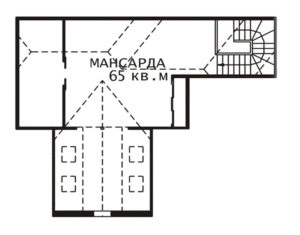 План мансарды Ольга-2