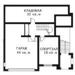 План цоколь этажа Каскад 0-1