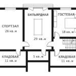 План цоколь этажа Каскад 1-2