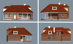 Проект каркасного дома Инна