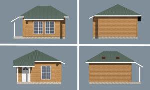 Проект дома для отдыха Ирга